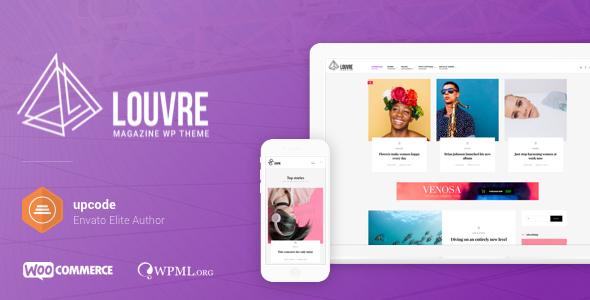 Louvre v1.0.8 - Minimal Magazine and Blog Theme