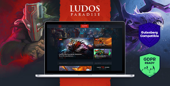 Ludos Paradise v1.0 - Gaming Blog & Clan WordPress Theme