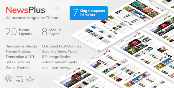 NewsPlus v3.3.1 - News and Magazine WordPress theme