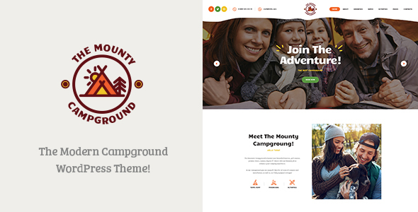 The Mounty v1.1 - Campground & Camping WordPress Theme