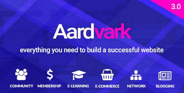 Aardvark v3 0 - BuddyPress, Membership & Community Theme