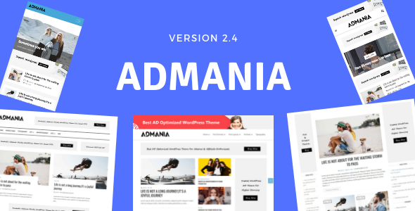 Admania v2.4.1 - AD Optimized WordPress Theme