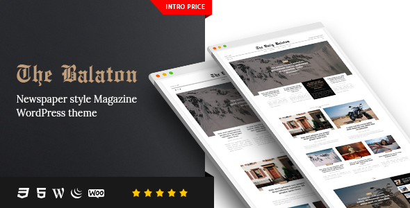 Balaton v1.0.9 - Newspaper style Magazine WordPress