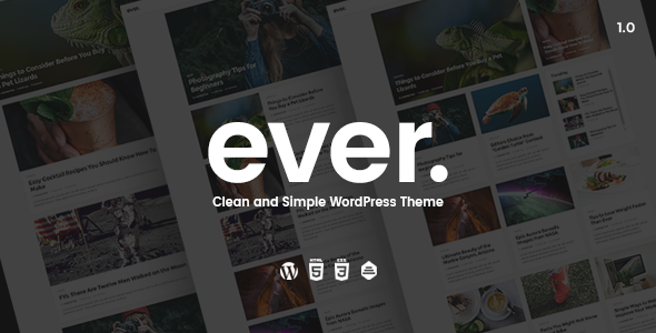 Ever v1.2.3 - Clean and Simple WordPress Theme