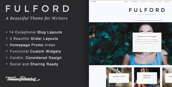 Fulford v1.0.8 - Responsive WordPress Blogging Theme