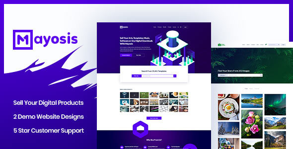 Mayosis v2.5.0 - Digital Marketplace WordPress Theme