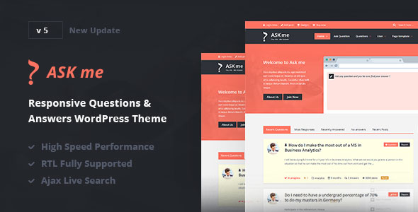 Ask Me v5.9 - Responsive Questions & Answers WordPress