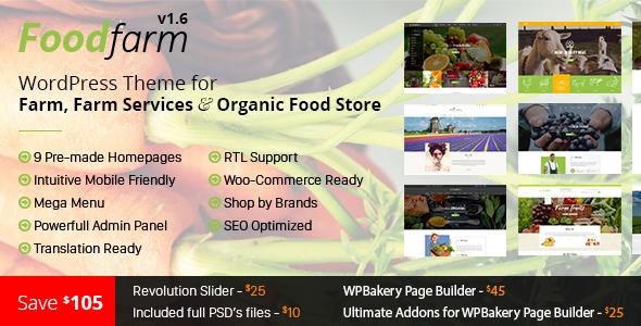 FoodFarm v1 7 8 - WordPress Theme for Farm