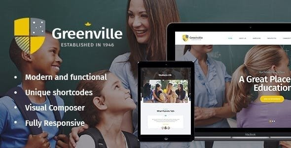 Greenville v1.3.0 - A Private School WordPress Theme