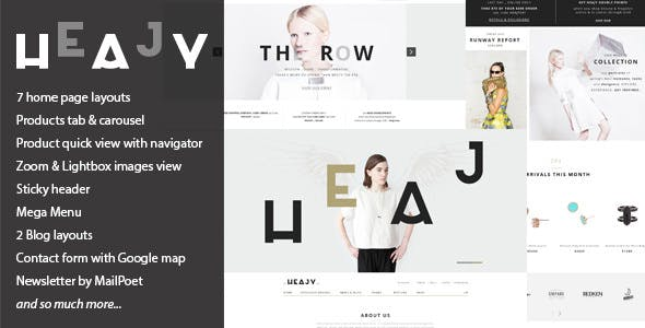Heajy v1.3.2 - Handmade Fashion WordPress Theme