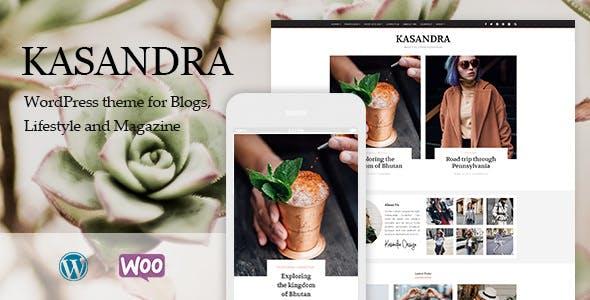 Kasandra v1.0.0 - A Responsive Blog and Shop Theme