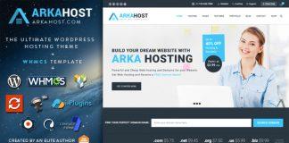 Arka Host v5.3 - WHMCS Hosting, Shop & Corporate Theme