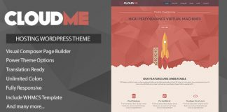Cloudme Host v1.1.1 - WordPress Hosting Theme + WHMCS
