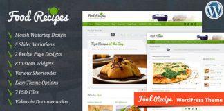 Food Recipes v4.0.1 - Themeforest WordPress Theme