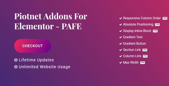 Piotnet Addons Pro For Elementor v5 0 1 Free Download