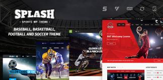 Splash v3.9 - Sport WordPress Theme