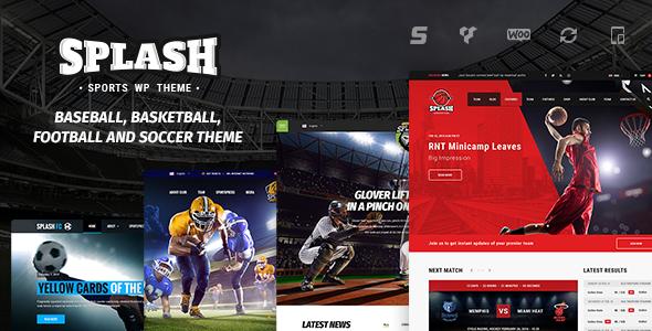 Splash v3 9 - Sport WordPress Theme Free Download