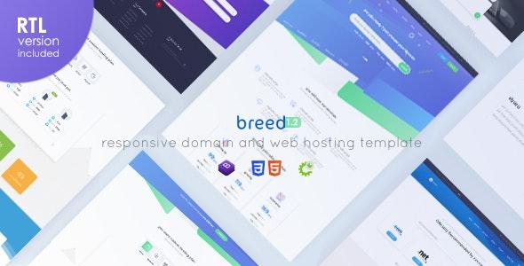Breed Hosting - WHMCS & HTML Web Hosting Template