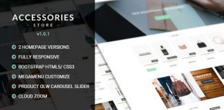 Accessories v1.0.1 - Multi Store Responsive HTML Template