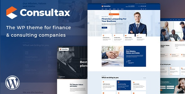 Consultax v1 0 3 - Financial & Consulting WordPress Theme