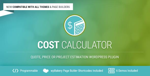 Cost Calculator v2.1.8 - WordPress Plugin
