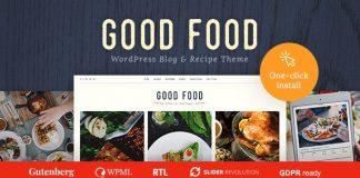 Good Food v1.0.8 - Recipe Magazine & Food Blogging Theme