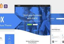 KNOX v1.0.0 - App Landing Page HTML Template