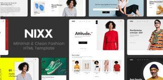 NIXX v1.0 – Minimal & Clean Fashion HTML Template