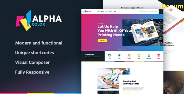AlphaColor v1.1.2 – Type Design & Printing Services WordPress Theme