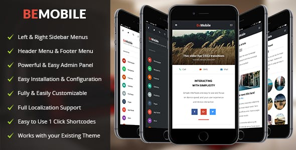 Be Mobile Theme v1 5 - Mobile WordPress Theme Free Download