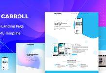 Carroll v1.0 - App Landing Page HTML Template