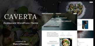 Caverta v1.2.6 - Fine Dining Restaurant WordPress Theme