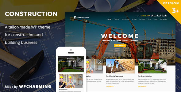 Construction v3.2 - WP Construction, Building Business