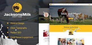 Dairy Farm & Eco Milk Products WordPress Theme v1.1.1