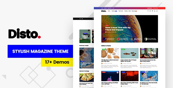 Disto v1.5 - WordPress Blog Magazine Theme