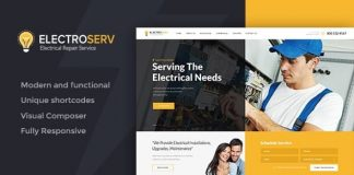 ElectroServ v1.3.2 - Electrical Repair Service WordPress Theme