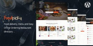 FoodPicky v1.2.7 - Food Delivery Restaurant Directory WordPress Theme