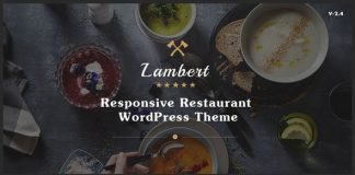 Lambert v2.5.2 - Restaurant / Cafe / Pub WordPress Theme