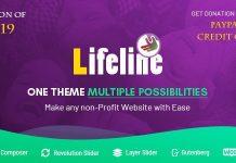 Lifeline v5.8.4 - NGO Charity Fund Raising WordPress Theme