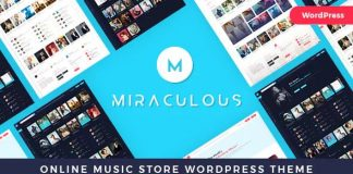 Miraculous v1.0.6 - Online Music Store WordPress Theme