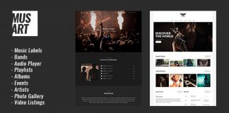Musart v1.1.2 - Music Label and Artists WordPress Theme