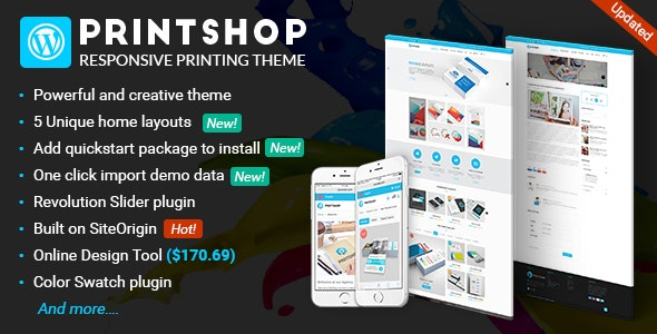 Printshop v4.4.0 - WordPress Responsive Printing Theme