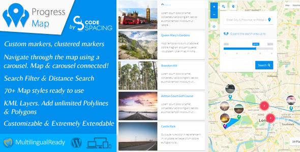 Progress Map WordPress Plugin v5.0