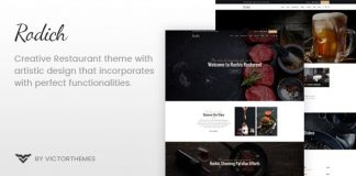 Rodich v1.7.1 - A Restaurant WordPress Theme