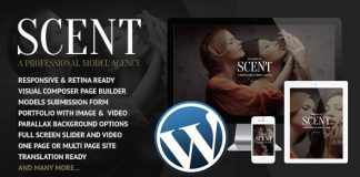 Scent v3.4.3 - Model Agency WordPress Theme