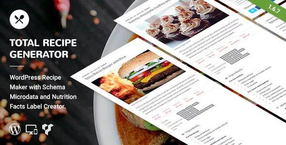 Total Recipe Generator v1.7.0 WordPress Plugin