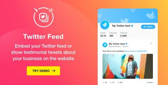Twitter Feed v1 3 0 - WordPress Twitter Plugin