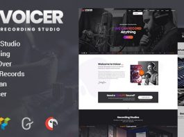 Voicer v1.0 - Recording Studio WordPress Theme
