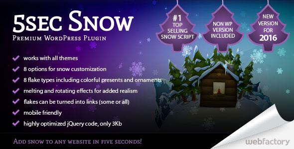 5sec Snow v1.65 - Premium Plugin