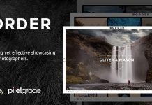 BORDER v1.9.0 - A Delightful Photography WordPress Theme
